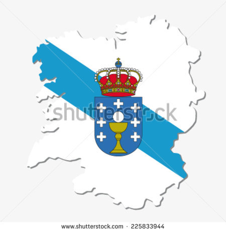 Galicia Flag Stock Photos, Royalty.