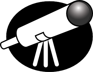 Telescope Clip Art at Clker.com.