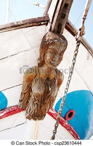 Stock Foto von altes, Schiffe, Galionsfigur, Segeln.