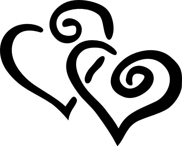 Double Heart Intertwined Black Clip Art at Clker.com.