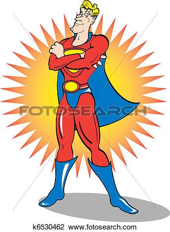 Clipart of Superhero Clip Art k6530462.