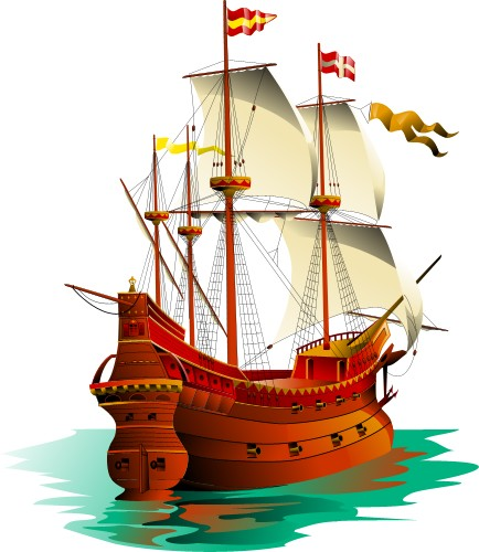 Galleon clipart free.