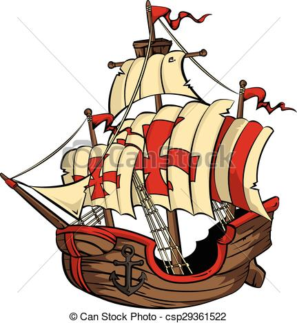 Vector Illustration of Ship.