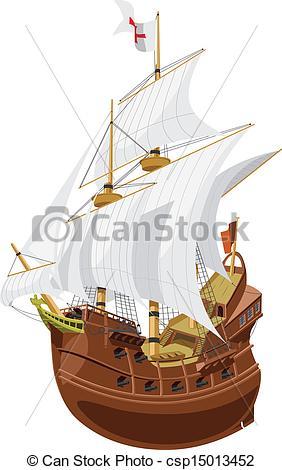 Clipart Vector of galleon.