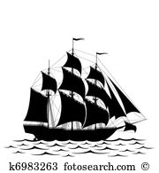 Galleon Clip Art EPS Images. 731 galleon clipart vector.