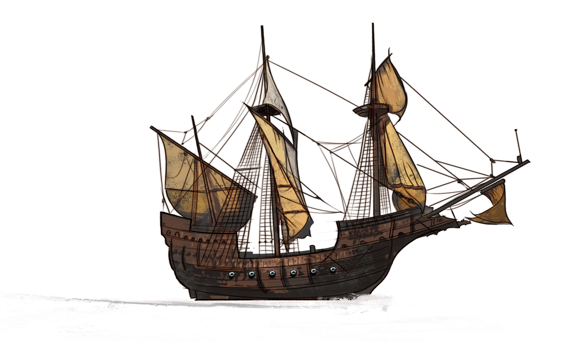 Manila galleon PNG Images.