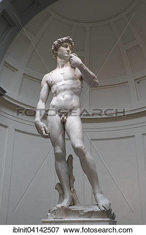 Picture of Statue of David by Michelangelo, Galleria dell.