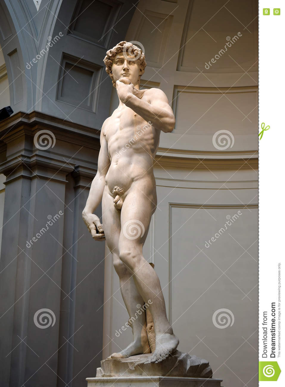 David By Michelangelo In Galleria Dell Accademia Florence, Italy.