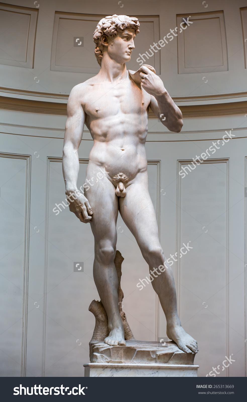 David Statue By Michelangelo Galleria Dellaccademia Stock Photo.