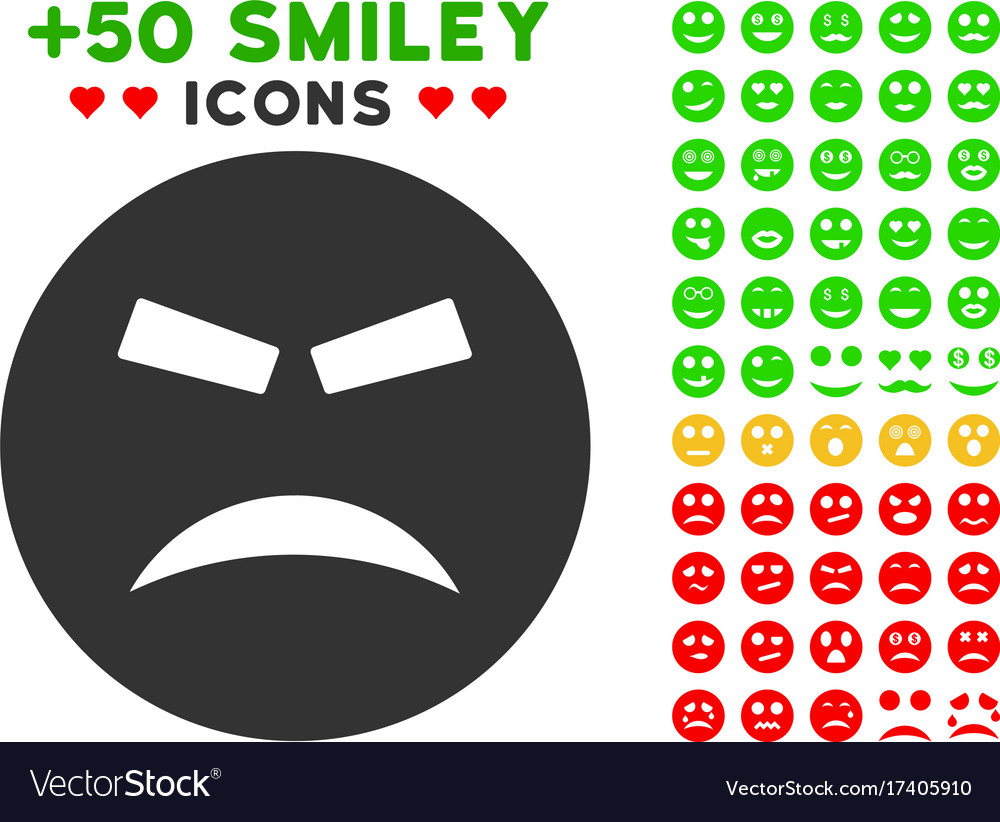 Furious smiley icon with bonus mood clipart.