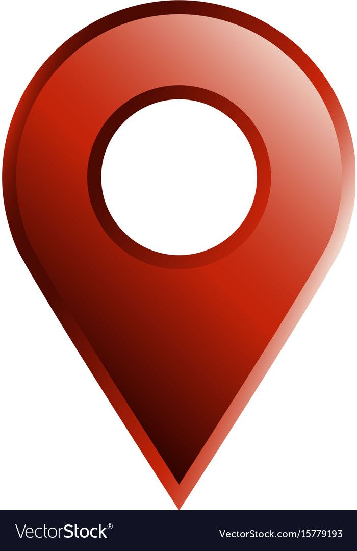 Geo location pin icon Royalty Free Vector Image.