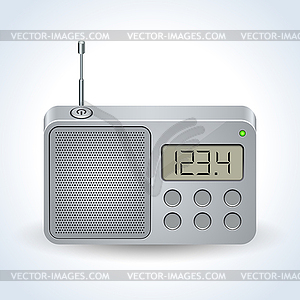 Radio receiver realistic vector icon.