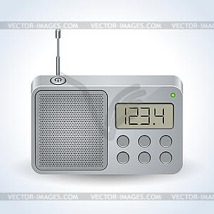 Radio receiver realistic vector icon.