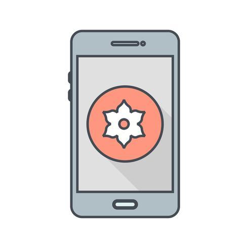 Gallery Mobile Application Vector Icon.