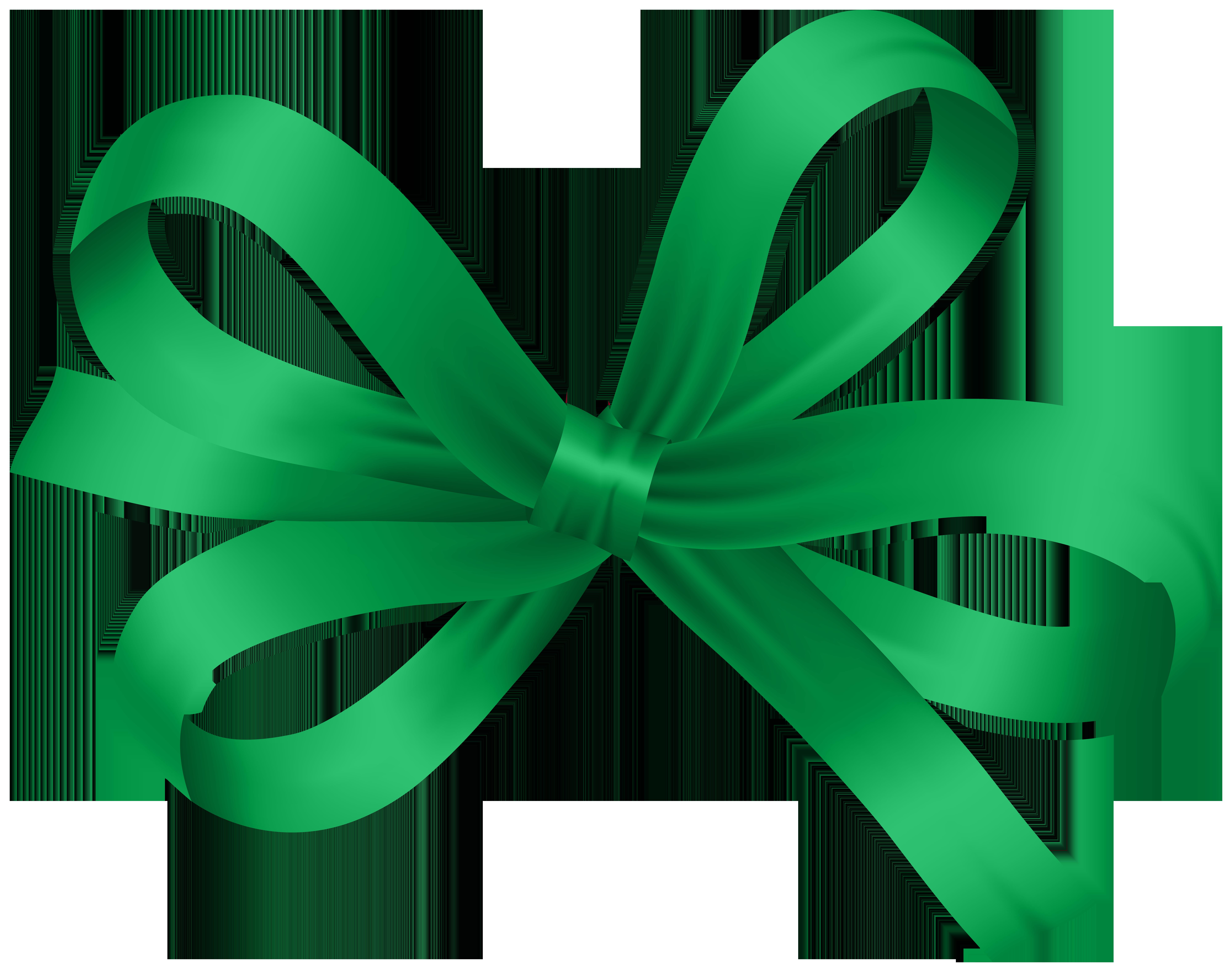 Bow Green Decorative PNG Clip Art.