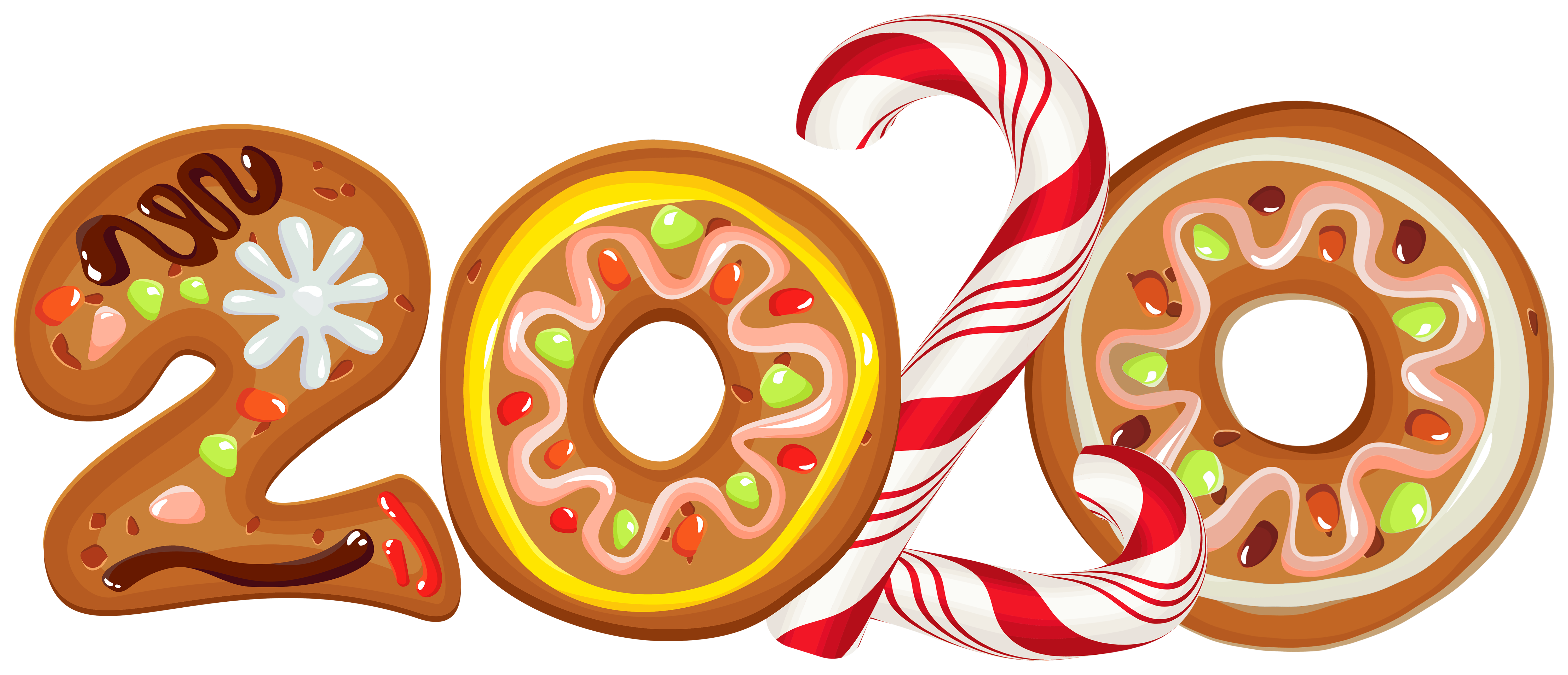 2020 Cookie Style PNG Clipart Image.