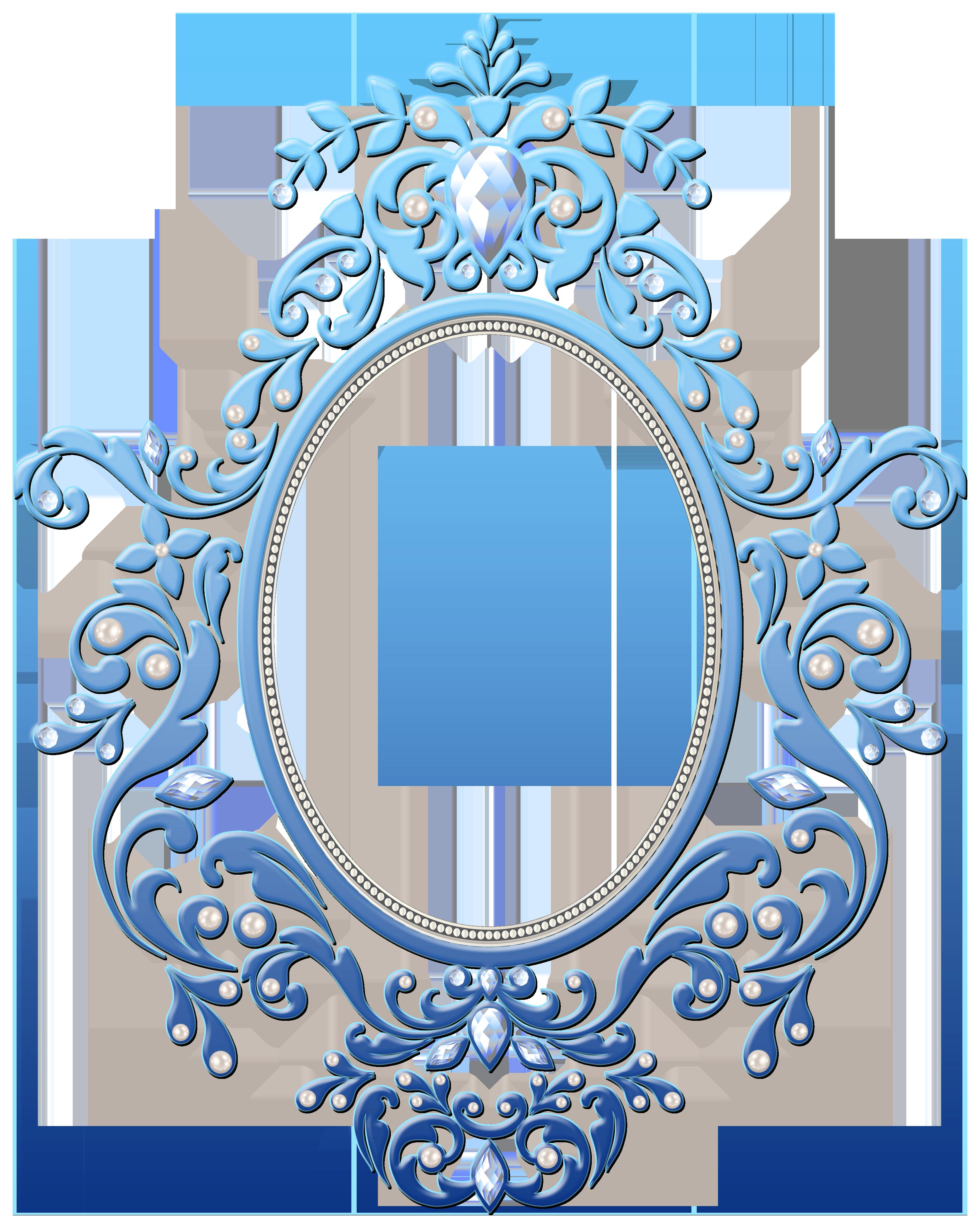 Blue Decorative Frame Transparent Clipart.
