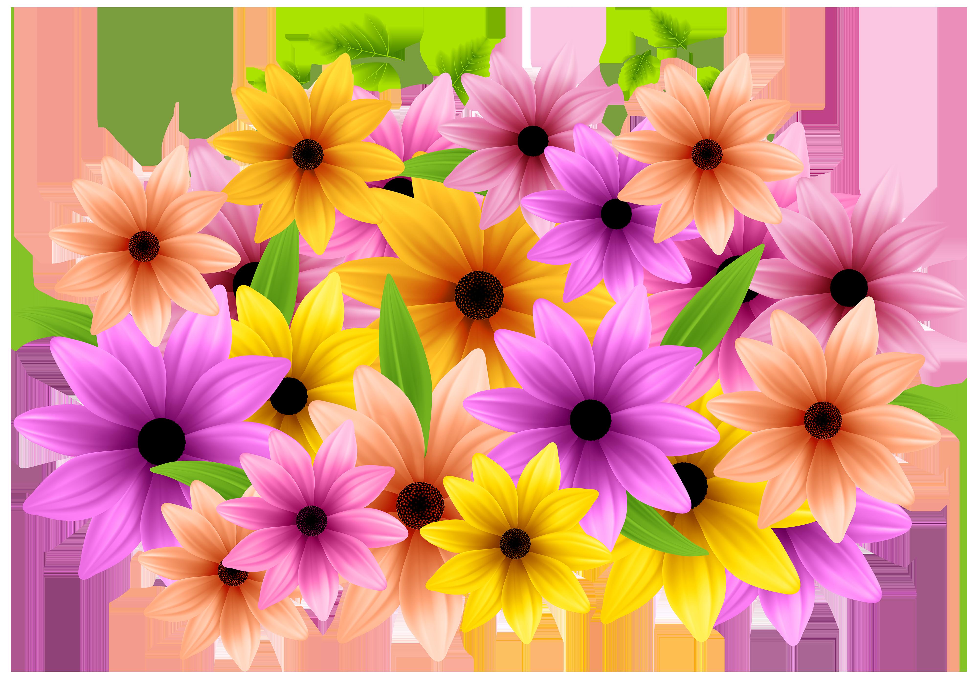 Flowers Decoration PNG Clip Art Image.