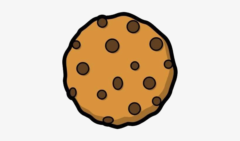 Svg Black And White Chocolate Chip Cookie Clipart.