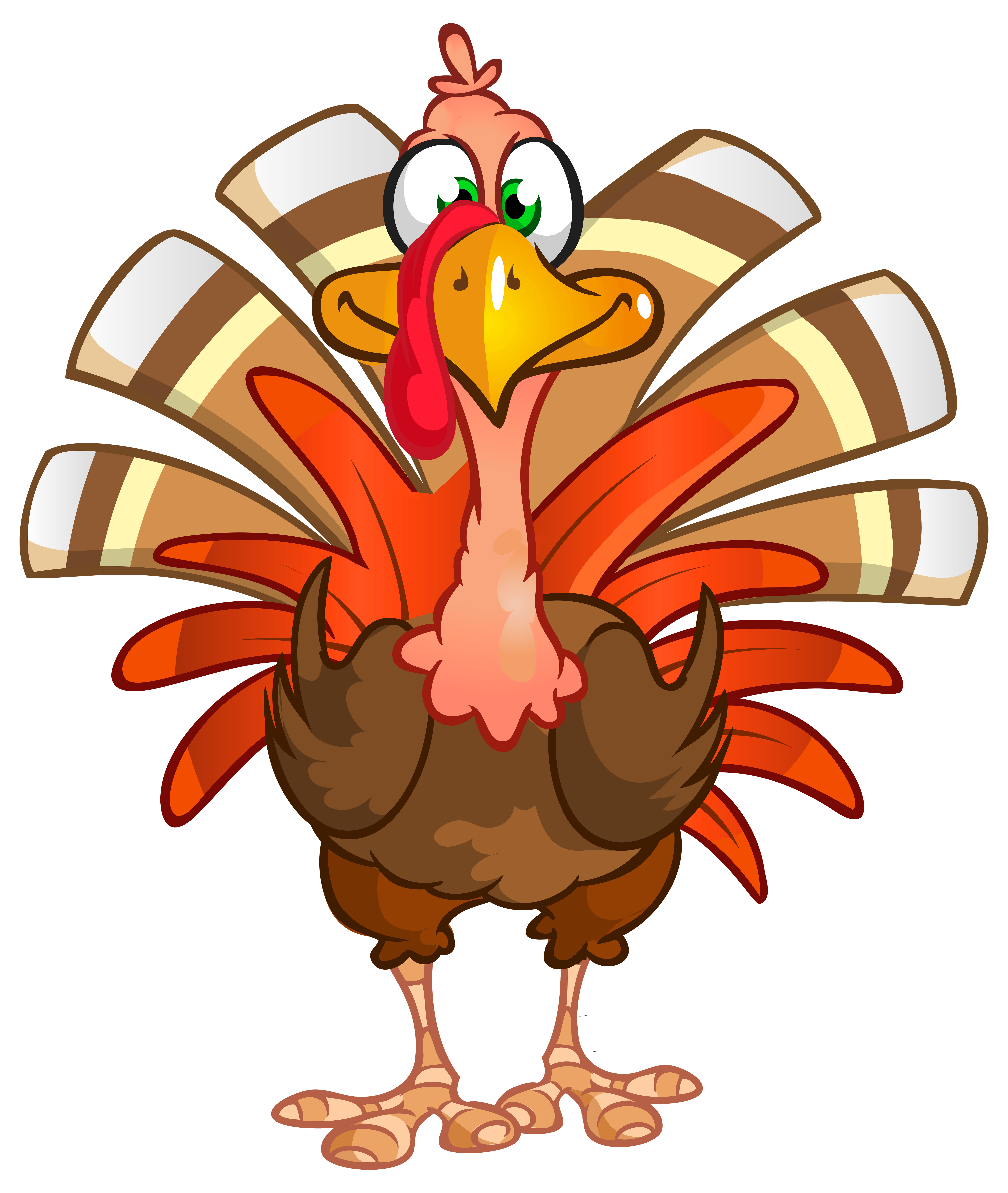 Thanksgiving Turkey Transparent PNG Clip Art Image.