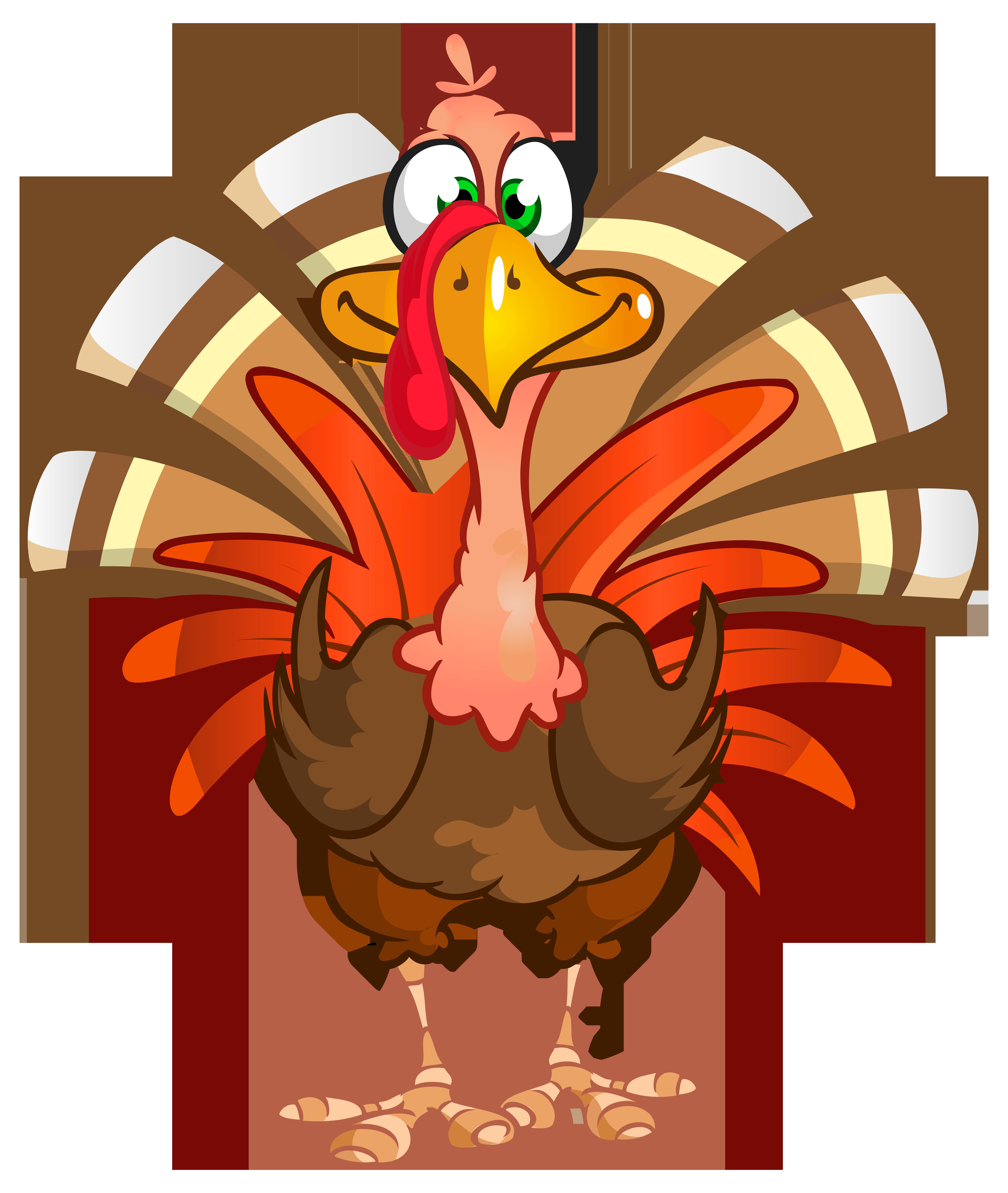 Thanksgiving Turkey Transparent PNG Clip Art Image.
