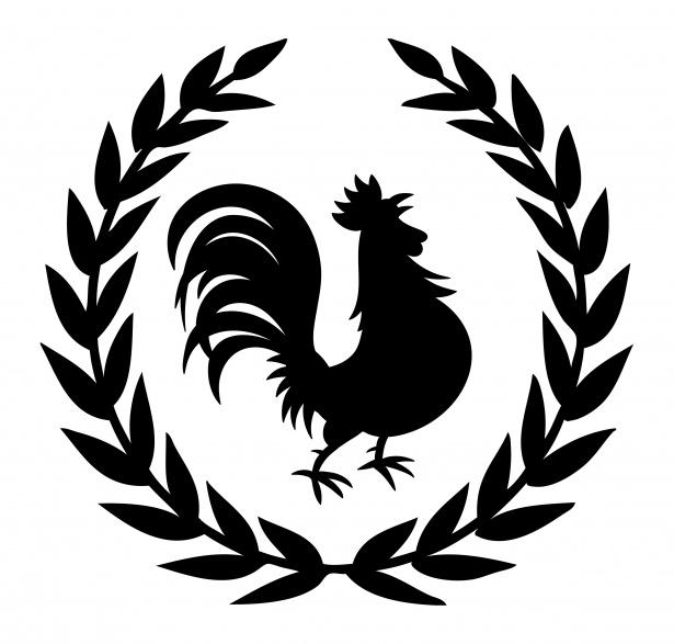 Gallo Logo silueta Clipart Stock de Foto gratis.