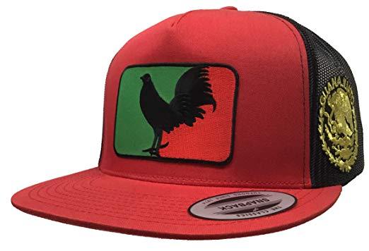 El Gallo Negro de Guanajuato Logo Federal 2 Logos hat red.