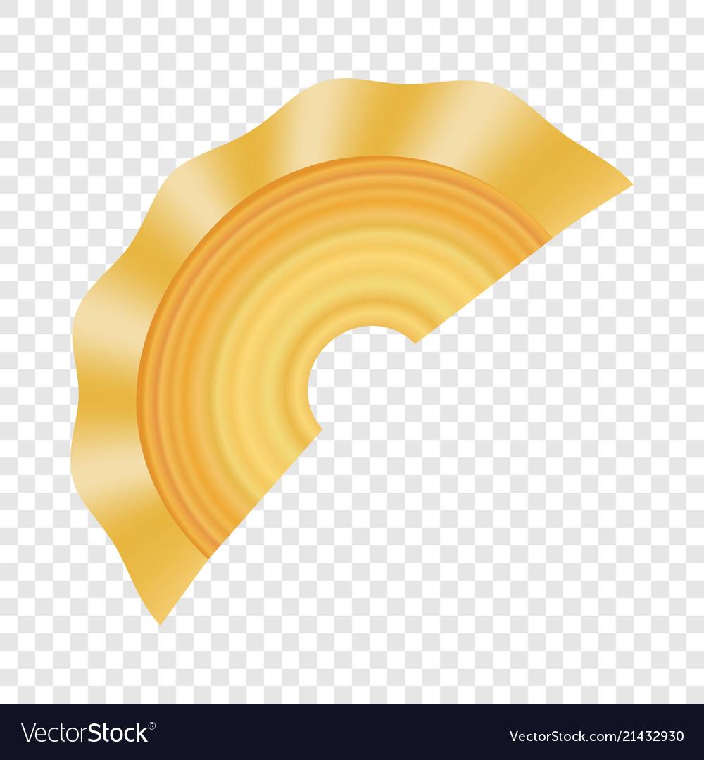 Creste di gallo pasta icon realistic style.