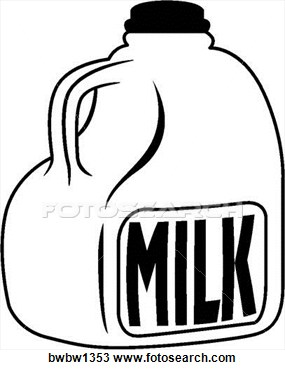 Clipart gallon of milk.