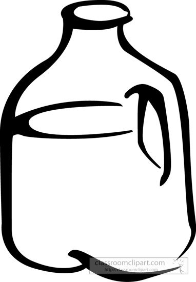 Gallon of milk clipart.