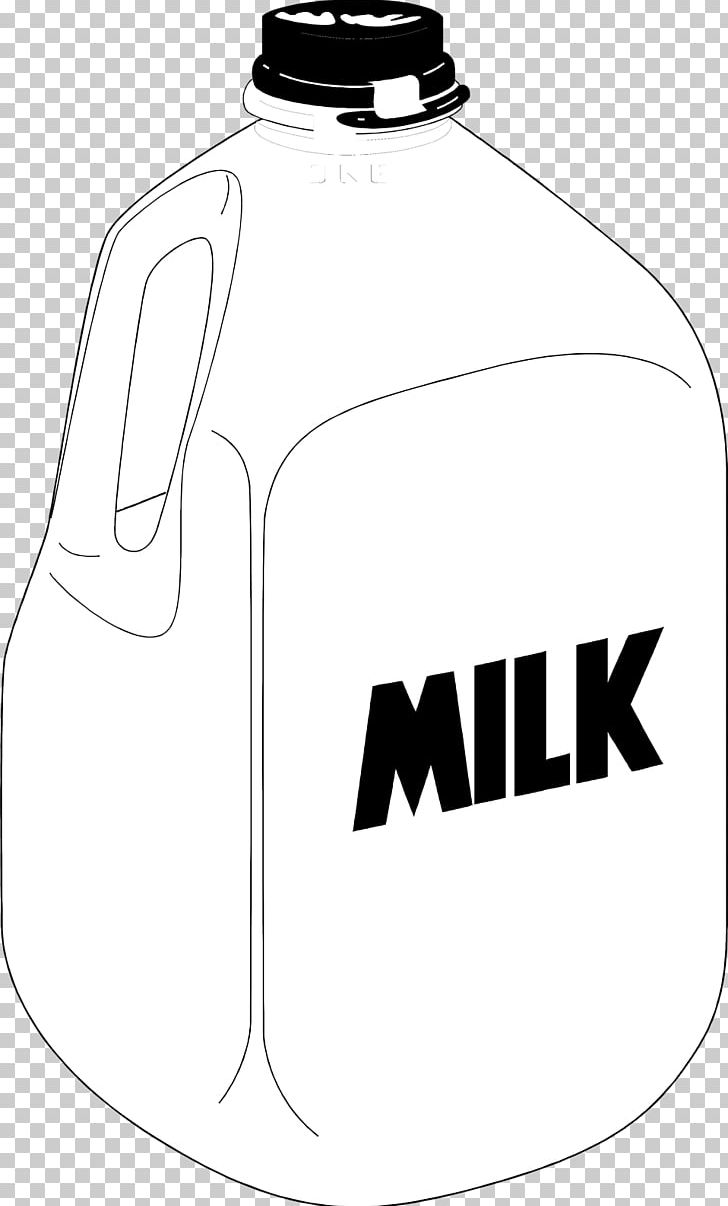 Square Milk Jug Gallon Chocolate Milk PNG, Clipart, Black And White.