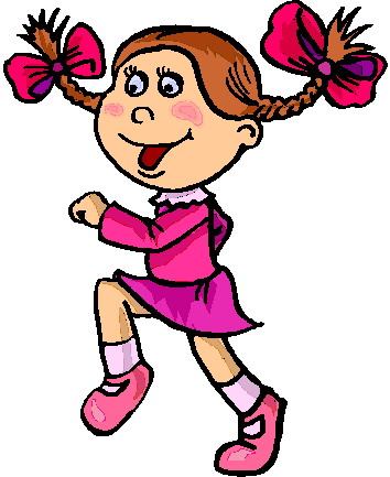 Kids galloping clipart.