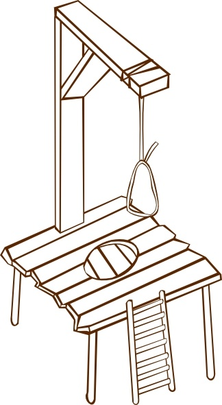 Gallows clip art Free vector in Open office drawing svg ( .svg.