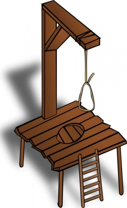 Gallows Clipart.