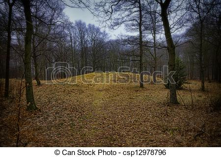 Stock Photographs of Gallows hill in Ribe, Denmark where the last.