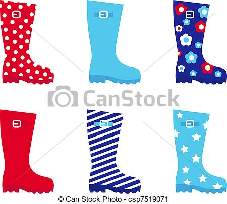 Galoshes Vector Clipart Royalty Free. 301 Galoshes clip art vector.