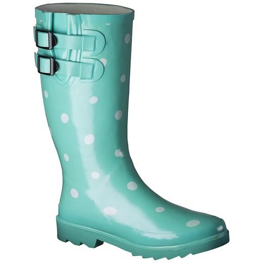 Women's Novel Dot Rain Boots : Target.