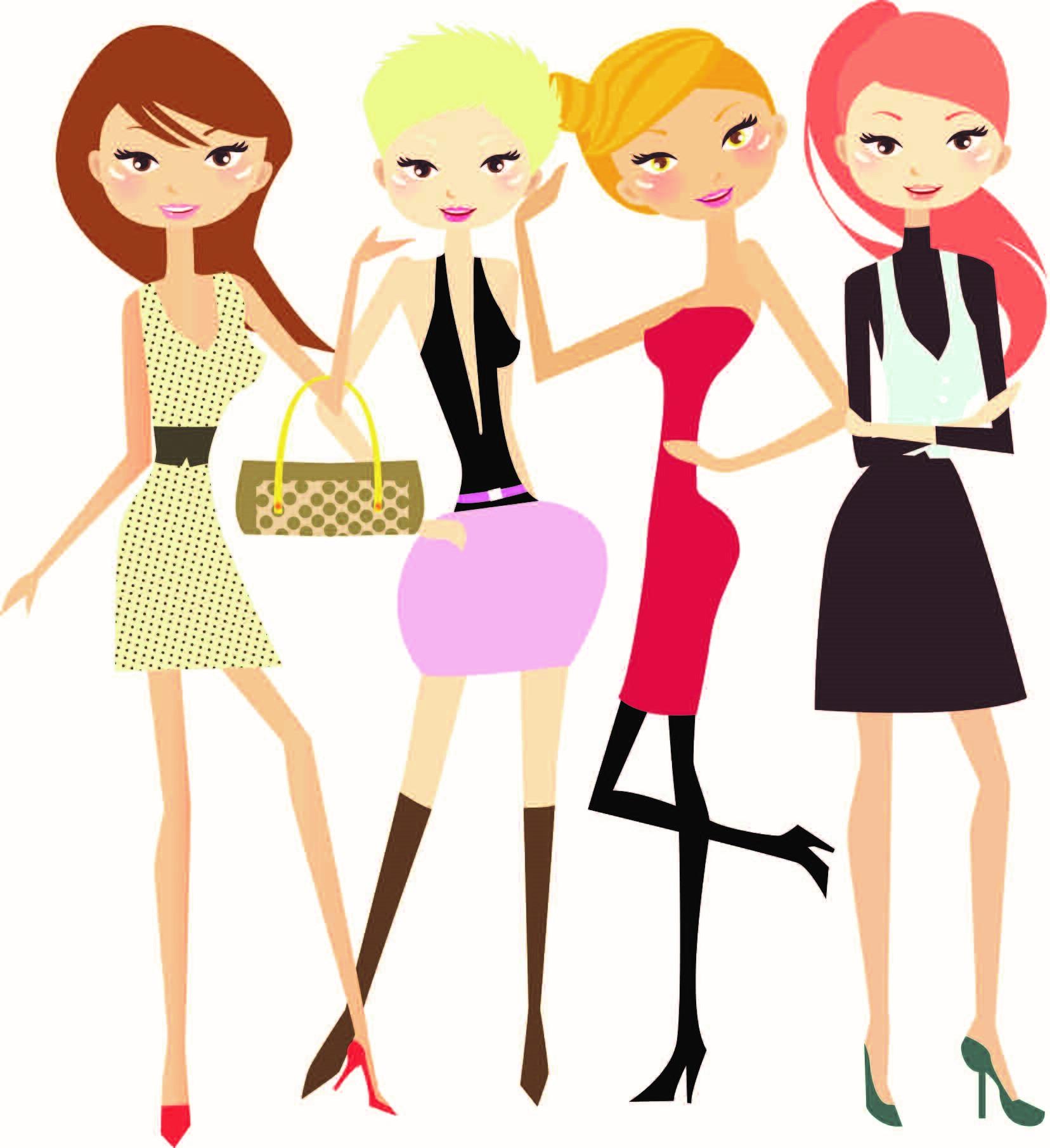 Girls night clip art.