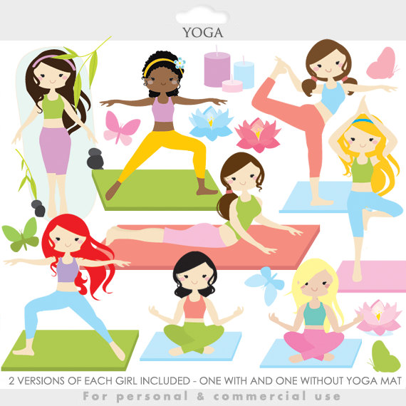 Yoga clipart yoga clip art girl gals by WinchesterLambourne.