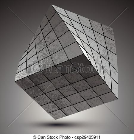 Vector Clip Art of Modern galvanized 3d object.