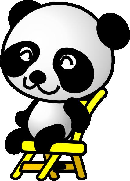 Sitting Panda Bear Clip Art at Clipart library.