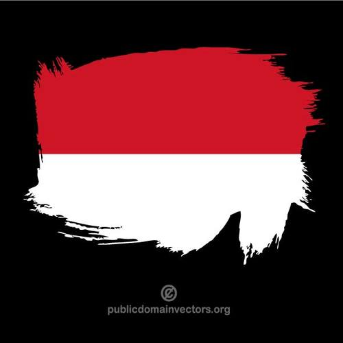 Painted flag of Indonesia.