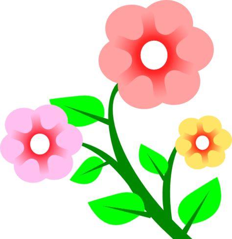 Gambar Bunga Kartun Warna Pink di 2019.