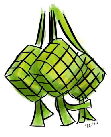 Ketupat Drawing at GetDrawings.com.