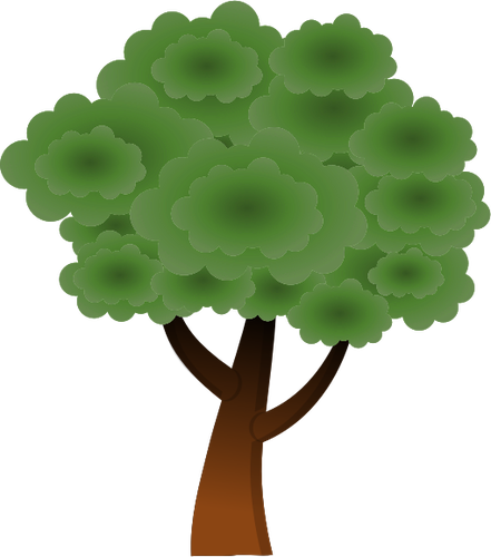 Simple vector image of round tree top.