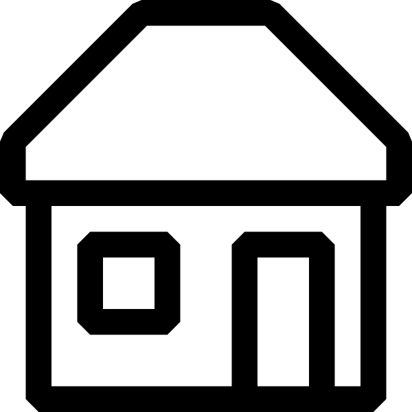 Black And White House Icon Clip Art at Clker.com.
