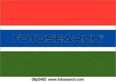 Clipart of gambia flag 06p0460.