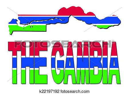 Gambia map clipart.