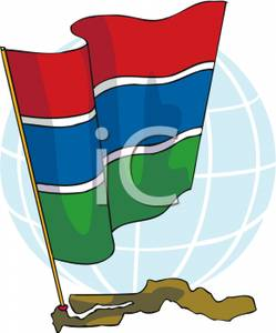 The_Gambian_Flag_on_a_Map_Gambia_Royalty_Free_Clipart_Picture_100429.
