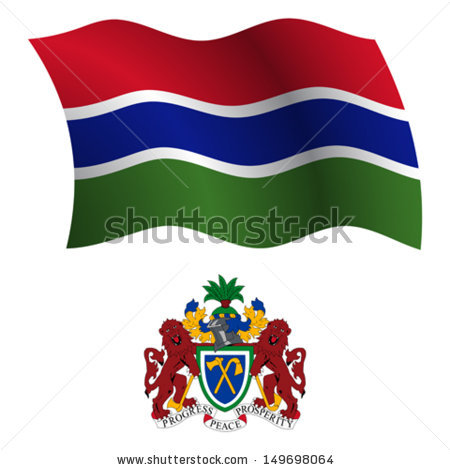 Gambia Flag Stock Images, Royalty.